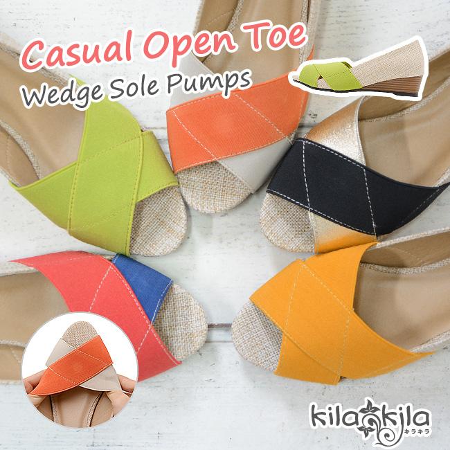 【公式】レディース靴の通販 shop kilakila(キラキラ)本店 オープントゥパンプス