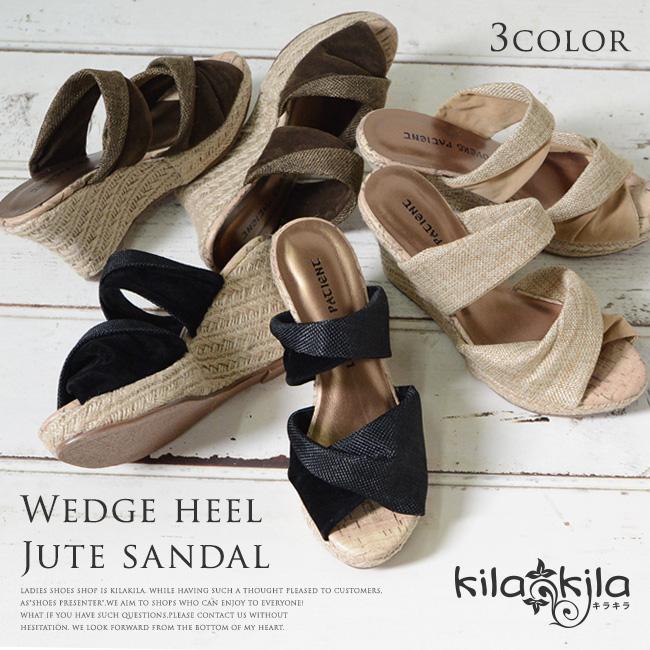 【公式】レディース靴 通販 SHOP KILAKILA本店ブログ ジュート巻ウェッジサンダル